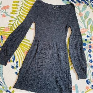 Anthro Knitted & Knotted Bishop Pointelle Sweater